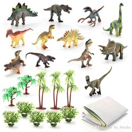 animal world toys NZ - 18pcs set simulation dinosaur model toy Jurassic solid overlord dragon sword animal world best gift for boys children free shipping 05