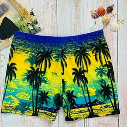 polyester trunks Australia - Mens Swimwear Swimming Trunks Men's Boxer Print Hot Spring Beach Pants Fashion Men's Swimwear Breathable Active Swim Trunks 6 Colors