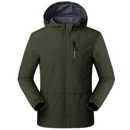 Wholesale rain jacket mens resale online – New Jacket Men Spring Autumn Thin Single layer Fleece Waterproof Casual Clothing Mens Outwear Breathable Windproof Rain Jackets