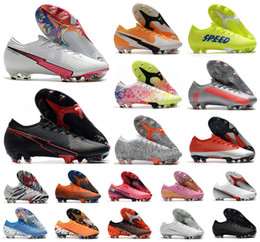 Discount soccer shoes cr7 size 2020 Men XIII Elite FG Low 13 Flash Crimson CR7 Ronaldo Neymar NJR 360 Women Boy Soccer Football Boots Shoes Size 39-45