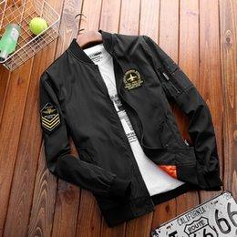 Wholesale jeep jackets coats resale online – LtlnU stand Baseball shield men s spring and autumn flying jacket thin coat fashion casual Jeep baseball collar jacket
