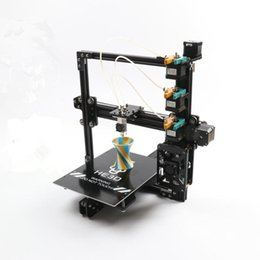 3d printer 3 extruder UK - HE3D the Newest EI3 triple large printing size 3 in 1 out extruder 3D printer kit with 2rolls filament+SD card as gift