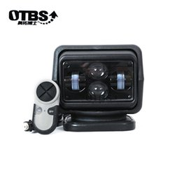 12v off remote Australia - OTBS 7Inch Remote Control 4D Led Search Light 360 degree 60w Marine Searchlight spot Boats Car Vehicle Off road 12V 24V