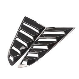 rear spoiler carbon fiber NZ - Carbon Fiber Look Style Rear Quarter Window Louvers Scoops Spoiler Car Side Window Scoop Cover for Mustang 2020 -2020