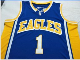 Discount eagles basketball jersey Custom Men Youth women Vintag Men Eagles K. Thompson #1 Basketball Jersey Size S-6XL or custom any name or number jersey