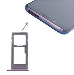 galaxy sim tray Australia - Cgjxs 100 %New Double Single Sim Micro Sd Memory Card Tray Holder Slot Replacement For Samsung Galaxy S9 G960 Vs S9 Plus G965 100pcs