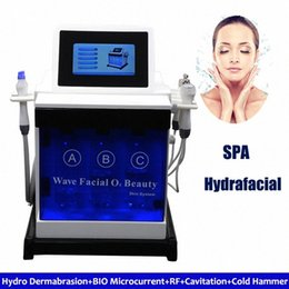 microcurrent new face machine Australia - Hydra Facial Water Dermabrasion Machine Produce New Collagen Bio Microcurrent Face Lift Ultrasonic Scrubber Face Renewal Hyperpigmenta UGcd#