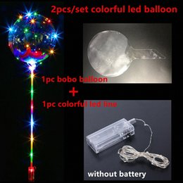 balls balloons sticks NZ - Bobo Ball LED Line With Stick Wave Ball 3M String Balloon Light Up For Christmas Halloween Wedding Birthday Home Party Decoration mXiy#