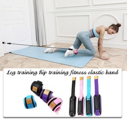 Discount resistance bands exercises for legs Resistance Bands with Ankle Straps Cuff with Cable for Attachment Booty BuThigh Leg Pulley Strap Lifting Fitness Exercis