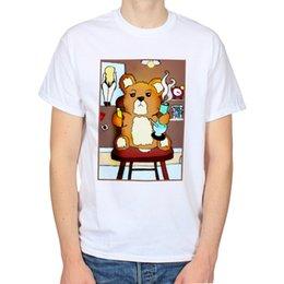 Wholesale stoner shirts for sale – custom STONER TEENAGE TEDDYBEAR CUTE DRAWING ILLUSTRATION HIP HOP T SHIRT Men S Funny Harajuku T shirts