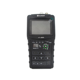 Vente en gros Freeshipping VF-HD Digital Satellite 6800 Finder Combo support DVB-T2 / DVB S2 / DVB C Sat Finder compteur pour la télévision par satellite Récepteur dvb t2 Tuner