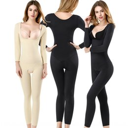 tight black body jumpsuit NZ - Long-sleeved trousers body-shaping jumpsuit postpartum thin belly-covering waist-tied Tight pants tight pants Jumpsuit tights body-shaping t