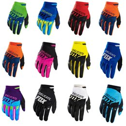 Wholesale 2020 DELICATE FOX Air Mesh Cycling Race Gloves Dirtpaw Motocross Dirt Bike BMX MTB Motorbike Gloves