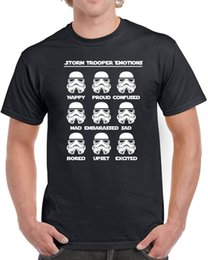 geek clothes UK - Storm Trooper Emotions Mens T-shirt Star Geek Nerd Wars New Force Empire New Print Tee Short Sleeve Clothing Streetwear
