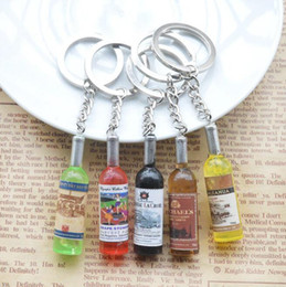 bottle mp3 Australia - 100pcs Beer Wine Bottle Cell Phone Straps Keychain Key Ring Phone Pendant Charm Cords DIY Lariat Lanyard MP3 MP4 U flash disk Xmas Gift
