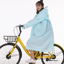 waterproof ponchos for women UK - Unisex Women Men EVA Hooded Raincoat Waterproof Poncho Long Sleeve Rainwear Coat Suitable For Cycling On Rainy Days And Wearing