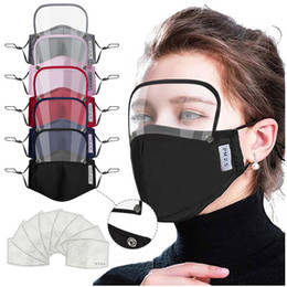 Discount kinds masks 2 In 1 Mouth Mask Removable Eye Shield Face Mask Kids Valve Face Mask With 2pcs Filter Pad Anti-dust Five Kinds of Color T3I51011