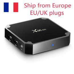(Schiff aus Europa) X96 Mini Android 7.1 TV-Box 2 GB16GB 1 GB8GB AMLOGIC S905W Quad-Kern 2.4GHz WiFi Media-Player im Angebot