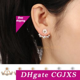 plates jewelry manufacturer UK - Hot Sale Small Daisy Flower Crystal Diamond -Studded Earrings High -Grade Anti -Allergic Ear Jewelry Manufacturers Wholesale Free Shipping