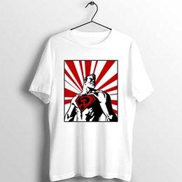 Wholesale superman shirts for sale – custom Men s T Shirt Superman Red Son Soviet Version Superman Super Comrade Artwork Art Printed Tee