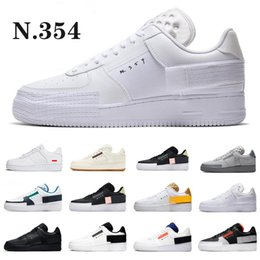 types shoes casual 2020 - Type N.354 GS Casual Low Top 1 07 Designer Black White Utility Air 1s Trainers Dunk One Cut Skateboard Sports Shoes chea