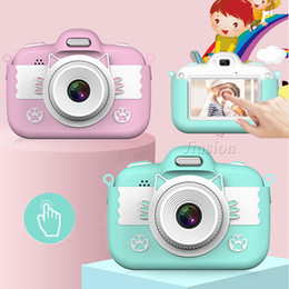 beste touchscreen-kamera großhandel-3 Touch Screen P HD Mini Kids Videokamera MP Dual Lens Digital Professional SLR Foto Vlog Camcorder Kinder bestes Geschenk