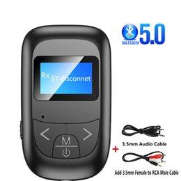 Ingrosso 5,0 Bluetooth Adapter Led-Bildschirm Wireless Bluetooth Audio Sender Empfänger für PC TV Auto 3,5mm AUX Musik mittente adaptador