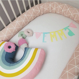toddler bedding sets Australia - Baby Bed Bumper Infant Protector Pillow Crib Long Bumpers Baby Bedding Set Toddler Cot Fence Cushion Decoration Room Bedding For Boys B75u#