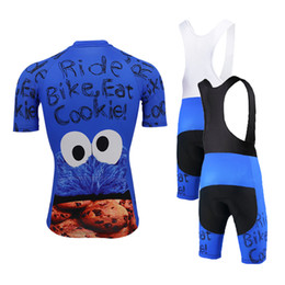 Wholesale cookies clothes online – design Classic cookies bike wear MEN cycling jersey set blue go pro team cycling clothing gel breathable pad MTB maillot ciclismo triathlon