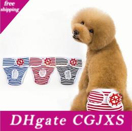 Wholesale diapers sizing online – design 5 Size Female Dog Diaper Washable Reusable Cotton Pet Diaper Adjustable Physical Pant Sanitary Panties Anti Harassment Pants