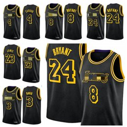 Wholesale basketball los angeles online – design 2020 Los Angeles Lakers Kobe Bryant Anthony Davis NBA LeBron James Swingman city Basketball Jerseys