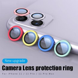 metal plug dock NZ - Cgjxs Tempered Glass Metal Protection Ring Case For Iphone 11 Pro Max Rear Lens Camera Screen Protector Cover Hot