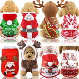 costume hoodies Australia - Pet Christmas Costumes Dog Dress Up Santa Claus Hoodies Winter Warm Puppy Decoration Clothes Cats Dogs Xmas Clothing