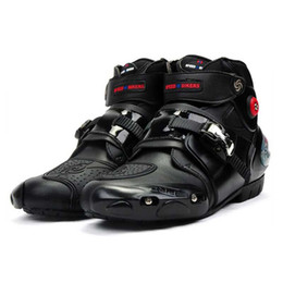 venda por atacado Equitação Tribo microfibra Motorcross equitação Sapatos Motorcycle Racing protecção Botas Anticollision antiderrapante 2020New A9003