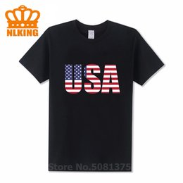 usa t shirt designs 2021 - Celebrate your Patriotism with this USA Letter Design men's t shirt Refreshing Summer Print T-shirts Classic 100%Co