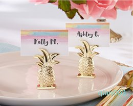place gold Australia - Wedding decoration Gold pineapple place card holder Creative Party favors Wedding Table decoration Free shipping