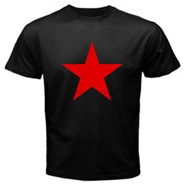 Wholesale rock stars clothes for sale – custom New Red Star Army Rem R E M Rock Music Legend Men s Black T Shirt Size S To xl T Shirt Casual Men Clothing Hot Cheap Men s