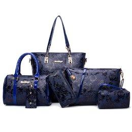 MIWIND 2020 Ladies Floral Elegant Shoulder Crossbody Bags for Women PU Leather Bags 6-piece Set Large Capacity Bolsa Feminina