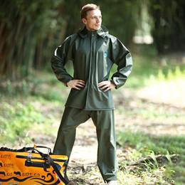 Ordentliche Arbeit hohe elastische PVC Pants Zahnradsatz gearcoat Anzug erwachsenen Split Regenmantel und regen Hosenanzug regen Getriebe im Angebot