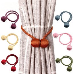 Curtain Buckle Braided Round Curtains Buckles Magnet Curtains Tieback Magnetic Curtain Holder Creative Brief Curtain Accessories DWF1007 on Sale