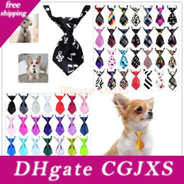 Wholesale round pattern dress for sale – plus size 56 Color Adjustable Cat And Dog Tie Pet The Pet Bow Tie Puppy Dress Pet Accessories Customizable Pattern