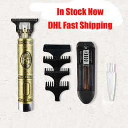 Wholesale Close-cutting Digital Hair Trimmer Rechargeable Electric Hair Clipper Gold Barbershop Cordless 0mm T-blade Baldheaded Outliner Men VS Kemei
