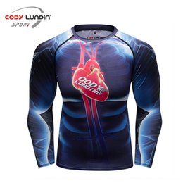 Wholesale 3d printed sweat shirt for sale – custom LWHmv D digital printing long sleeved T shirt sports tights men s sweat Tight pants tight pants Top Tights quick drying fitness training ru