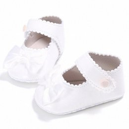 wholesale mary jane baby shoes Australia - OUTAD Infant Baby Shoes Girls Moccasin PU Leather Princess Mary Jane Shoes Soft Sole Bowknot Toddler First Walkers New F8vo#