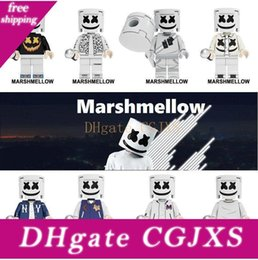 Wholesale style video game online – design 7 Styles Cotton Action Figure Heroes Infinity Marshmallow War Guardians Of Galaxy Avengers Movies Video Game Cartoon Building Block Dhl