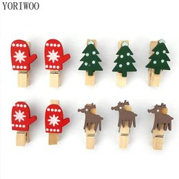 wooden clips diy 2020 - Yoriwoo 24pcs Merry Christmas Wooden Clips Photo Wall Clip Diy Christmas Tree Ornament Decorations For Home Kids New Yea