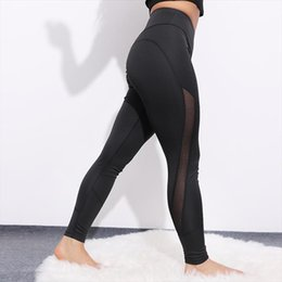 sexy workout spandex pants 2020 - High Waist Mesh Leggings Women Sexy Activewear Push Up Pants Elastic breathable Patchwork Fitness Workout Leggings cheap