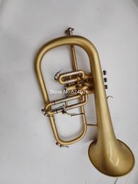 Ingrosso Caso Con il nuovo arrivo Bach Bb Flicorno ottonato Strumento musicale professionale Hing qualità trasporto libero degli accessori
