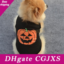 Wholesale funny black hoodies online – oversize Halloween Dog Clothes Festival Carnival Black Funny Pumpkin Pet Dog Hoodies Halloween Pumpkin Puppy Dress Costume T Shirt Bh2413 Tqq