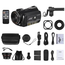 Andoer AC3 4K UHD Portable Digital Video Camera Camcorder DV Recorder 30X Zoom WiFi Connection 3.1 Inch IPS LCD Touchscreen on Sale